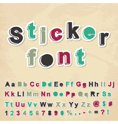 Sticker font vector image