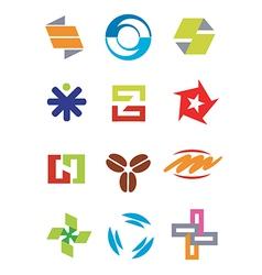 Creative design symbols icons vector image