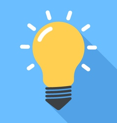 Lightbulb flat vector