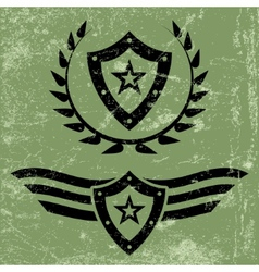 Military style grunge emblems vector image