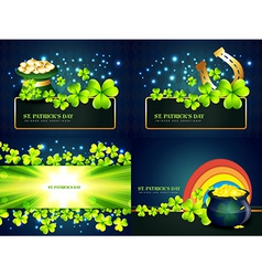 Stylish collectiont of st patricks holiday vector