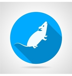 Rat flat blue icon vector