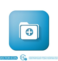 Folder for documents vector