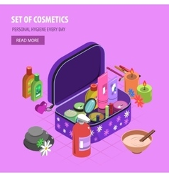 Bodycare bag isometric vector