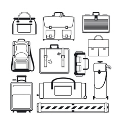 Luggage icons set vector