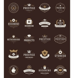 Retro vintage premium quality labels vector