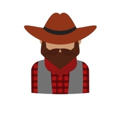 Bearded dangerous criminal man cartoon character vector