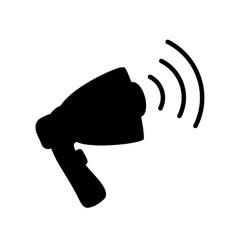 advertising bullhorn loudspeaker vector image vector image
