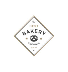 Bakery shop logo template object for vector