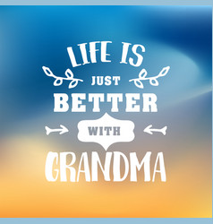 Best grandma handwritten in white vector