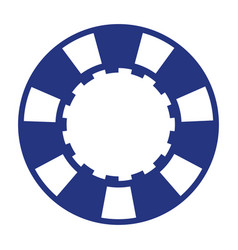 blue casino poker chip vector image
