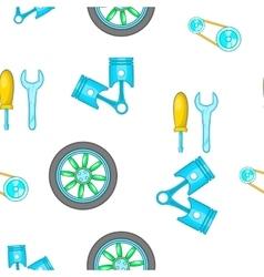 Car repairs pattern cartoon style vector