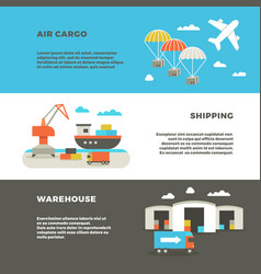 delivery cargo transportation and logistics vector image vector image