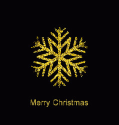 Elegant christmas background with shining gold vector