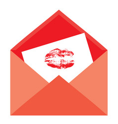 Envelope kiss vector