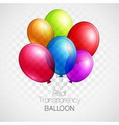 Festive Balloons real transparency vector image vector image