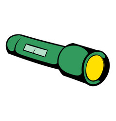 flashlight icon icon cartoon vector image