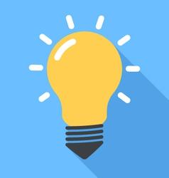 Lightbulb flat vector image