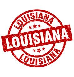 Louisiana red round grunge stamp vector