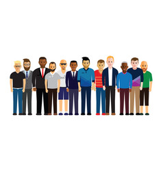 men in a line vector image