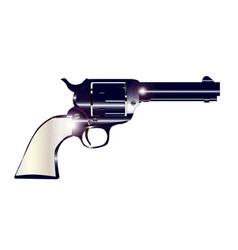 pearl handled revolver vector image