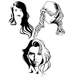 portraits of beautiful women vector image vector image
