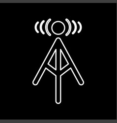 radio tower it is icon vector image