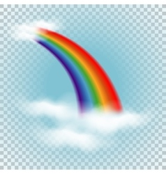 Rainbow in clouds vector image