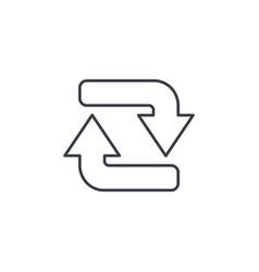 refresh arrows thin line icon linear vector image vector image