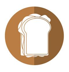 Sandwich tasty food shadow vector