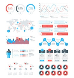 Set of Infographic Elements and Objects for vector image