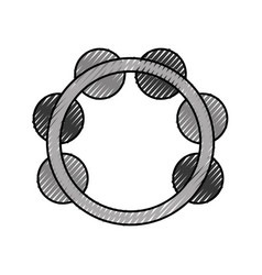 Tambourine musical instrument icon vector