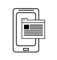 Technology smartphone information service data vector