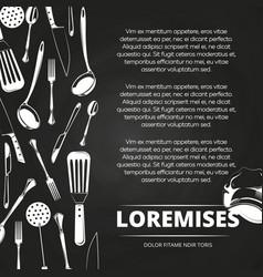 vintage restaurant chalkboard poster design vector image vector image