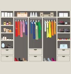 walk in closet11 vector image vector image