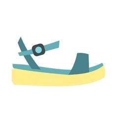 Blue women platform sandal icon flat style vector image