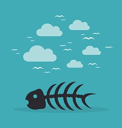 Fish bone3 vector