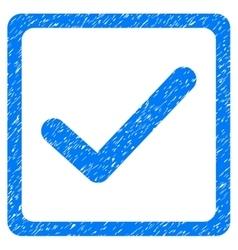 Checkbox grainy texture icon vector