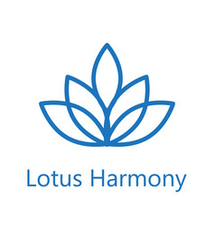 lotus flower logo icon vector image