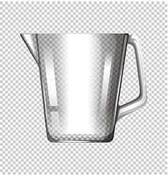 Plastic beaker on transparent background vector