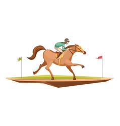Horse riding retro design concept vector