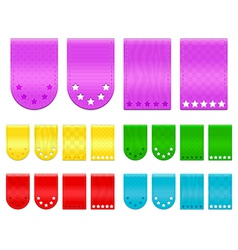Ribbon tags vector