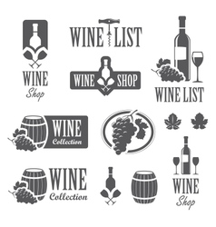 Wine signs vector image