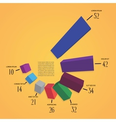 colorfull 3d infographics vector image