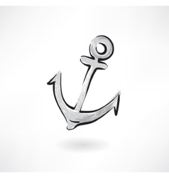 anchor grunge icon vector image
