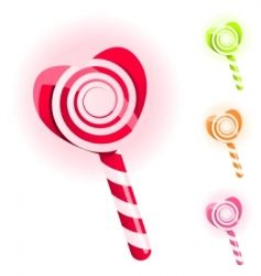 Set of lollypops vector