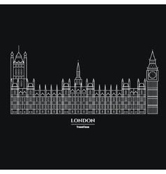 Big ben and parliament icon 1 vector