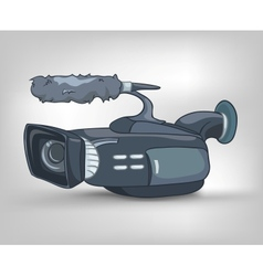 Cartoon video camera vector