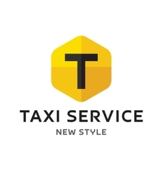 Logos taxi service sign abstract geometrical vector