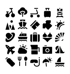 Summer icons 2 vector